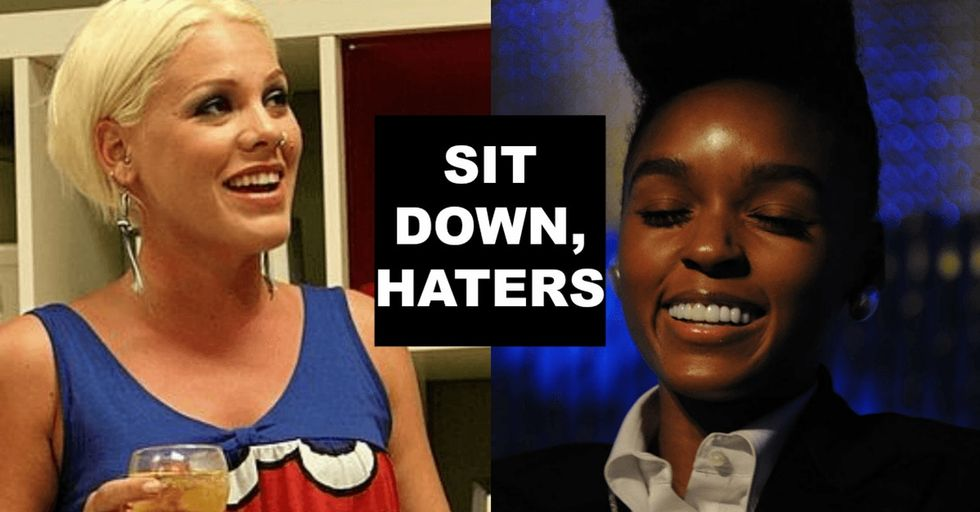 Not sure if you noticed, but Janelle and Pink just set a really great example for girls everywhere.