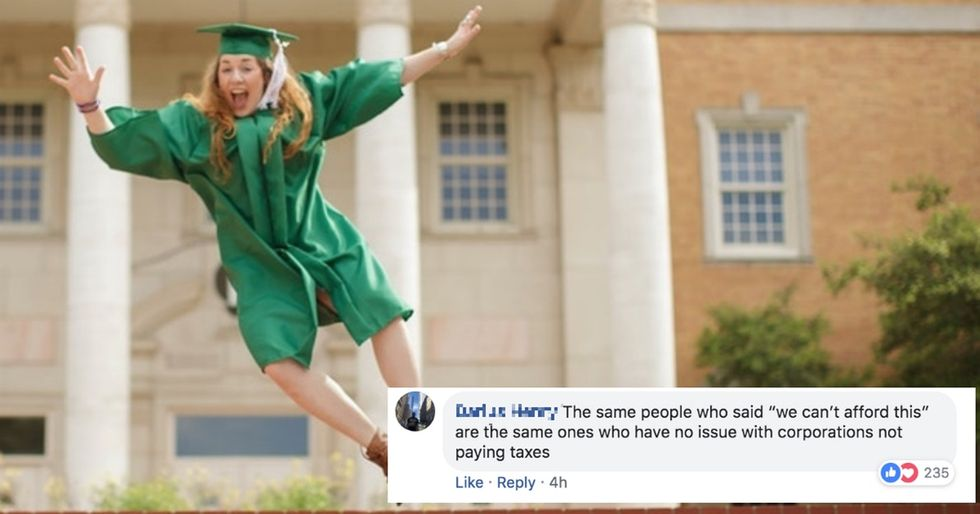 Here's the plan to erase student debt for more than 42 million Americans right now.