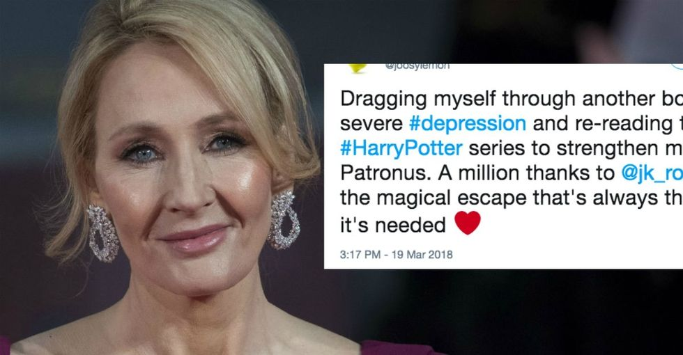 'Keep that Patronus powerful': J.K. Rowling's magical reply to a struggling fan.