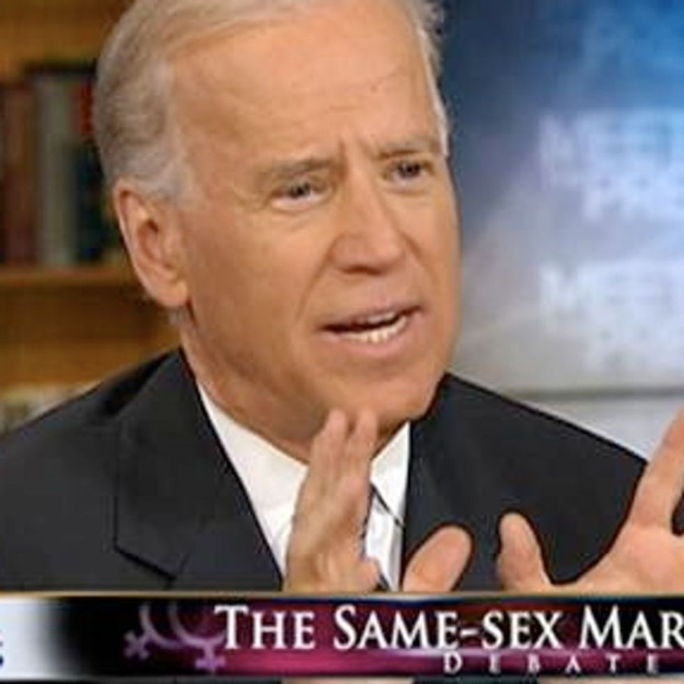 BOOM! Vice President Biden Says He Supports Gay Marriage
