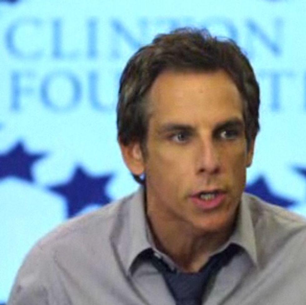 Awesome video: Ben Stiller just got punked by Bill Clinton.