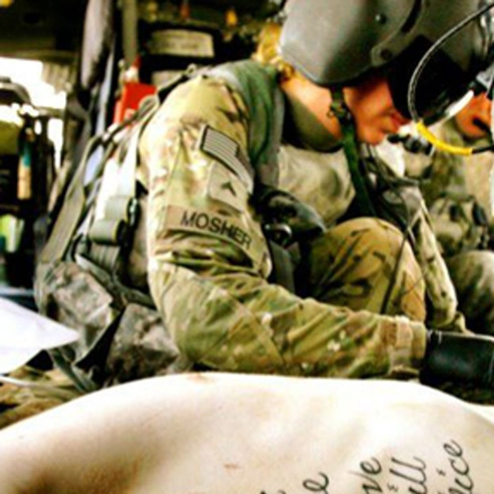 A Wounded Soldier's Tattoo Says It All