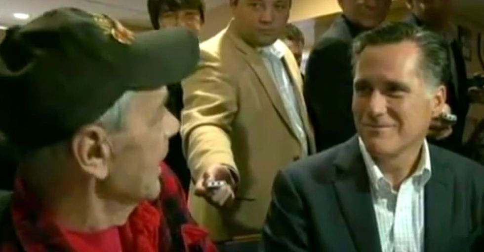 Mitt Romney Accidentally Confronts A Gay Veteran; Awesomeness Ensues