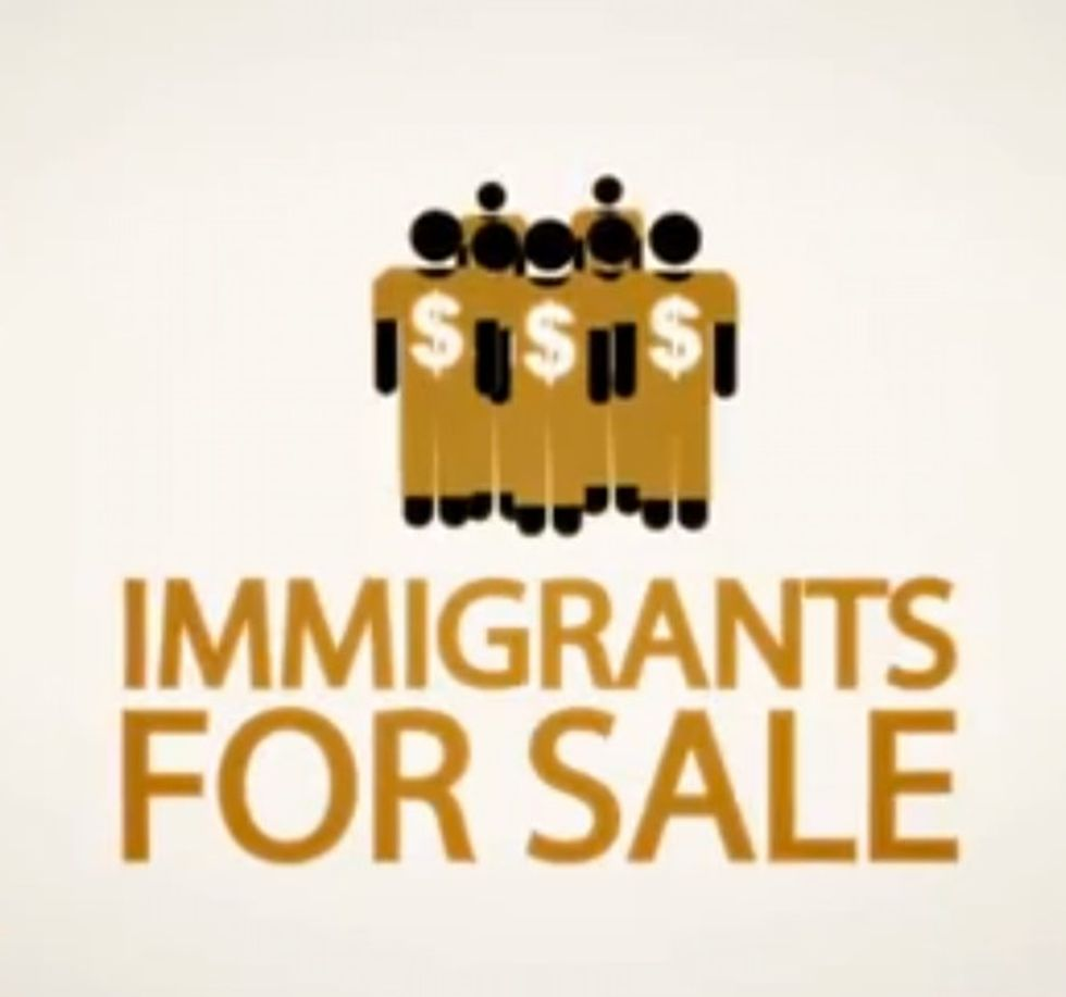 Immigrants for sale. You read that correctly.