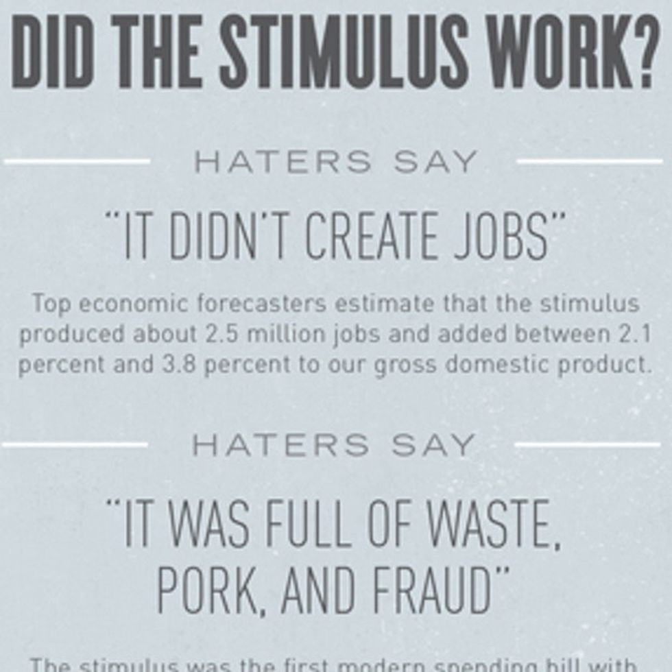 Haters Gonna Hate ... Stimulus Gonna Stimulate