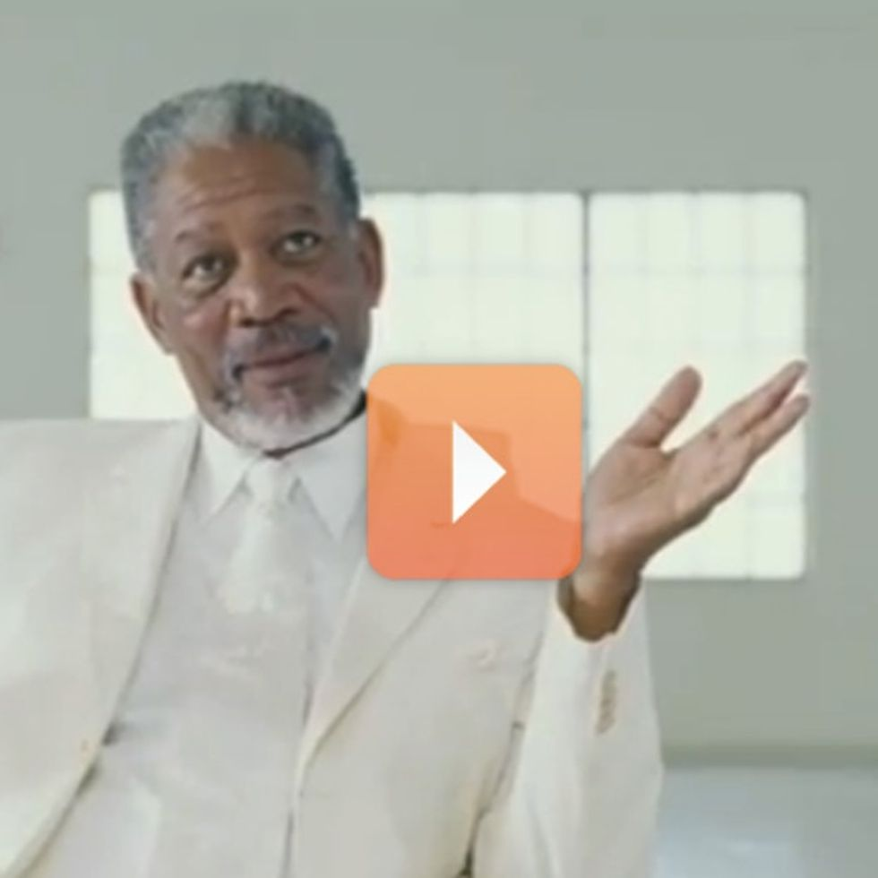 Morgan Freeman Once Played God, Now He's Playing The Voice Of Reason