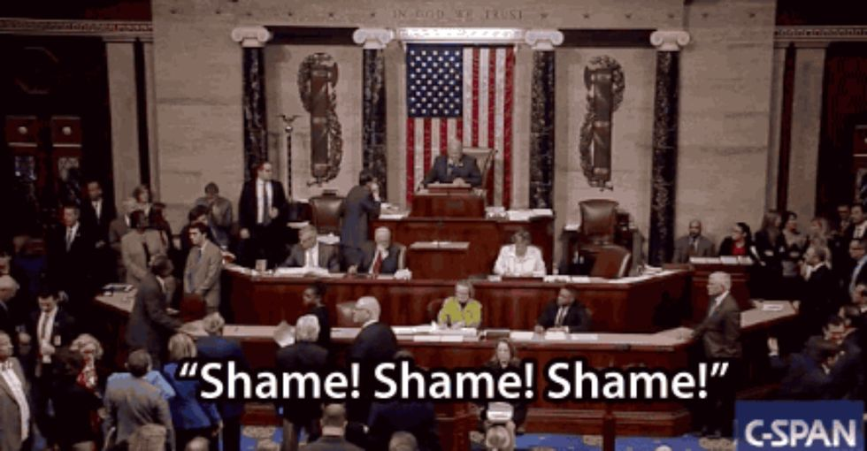 Congress sneakily blocked an LGBT rights bill, and the House floor erupted.