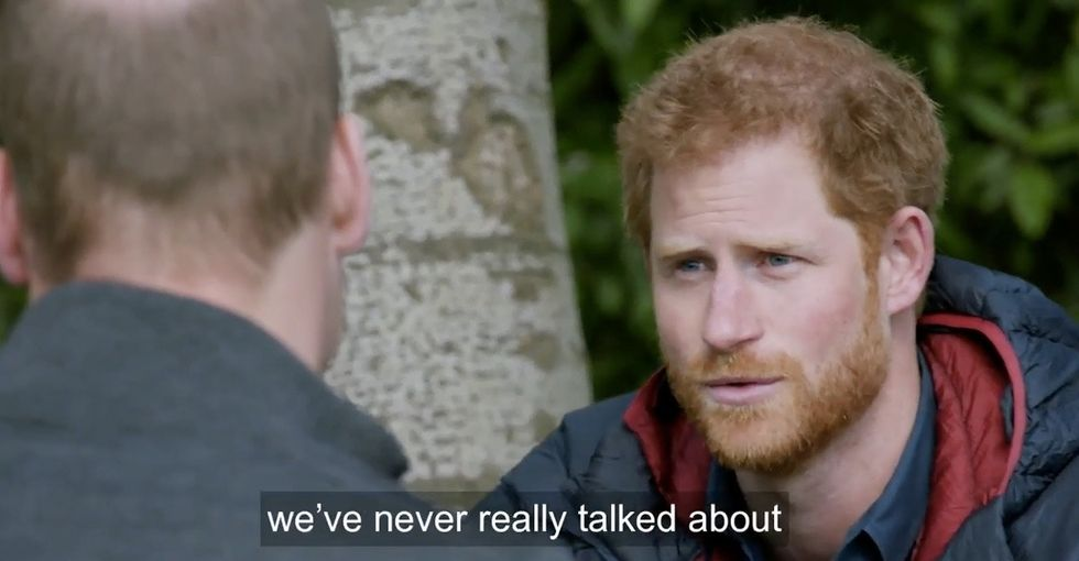 Anyone who's lost a parent can relate to Prince Harry's candid chat with his brother.