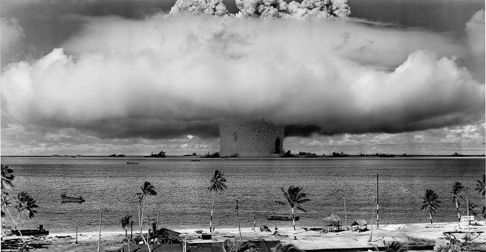 Remember those nukes we tested in the Cold War? The residual radiation is leaching into the ocean.