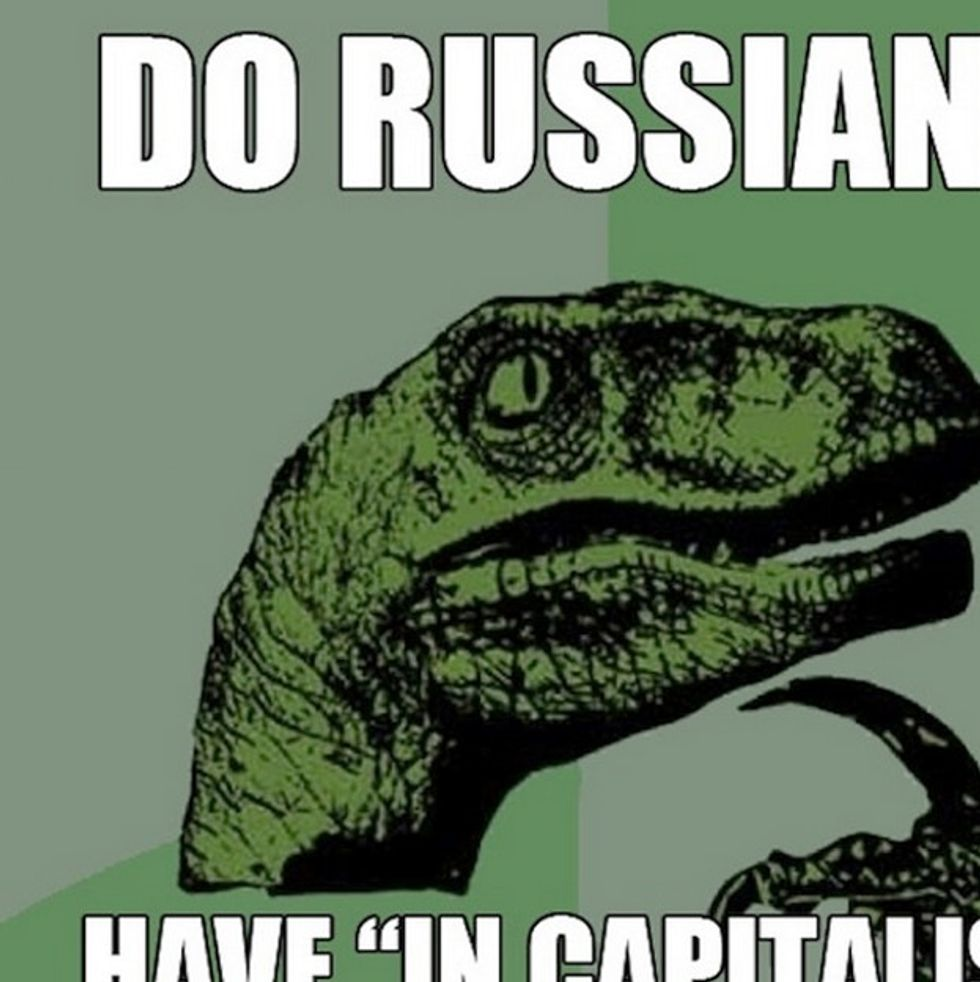 Why Didn't We See This Joke Coming? Good One Russia.