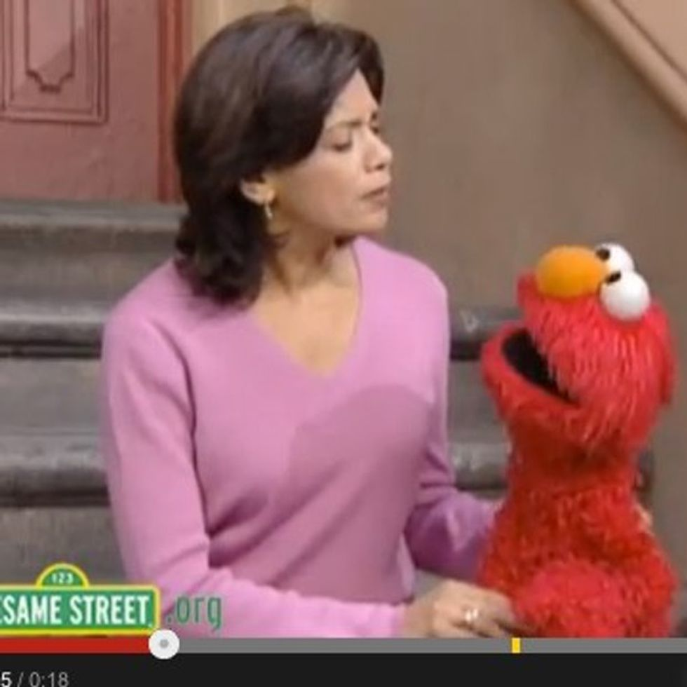 When You Are Done Hugging Your Kids Too Tightly, Elmo Will Help You Figure Out What To Say Next