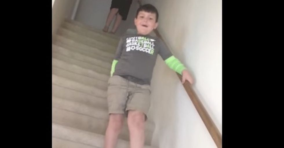 This kid's reaction to finding out he's cancer-free is a tearjerker.