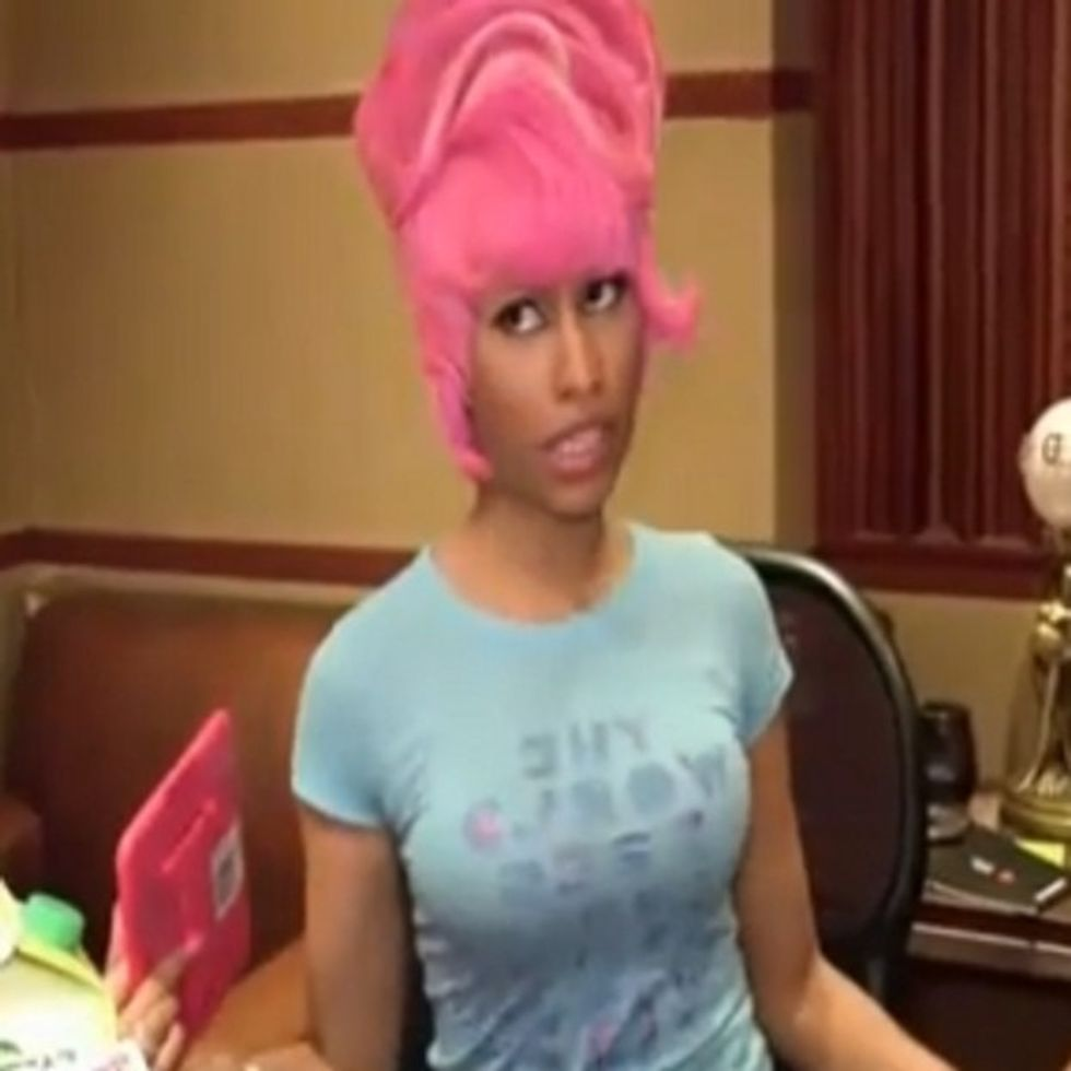 Watch Nicki Minaj Casually Dismantle Sexism While Applying Her Eyeliner