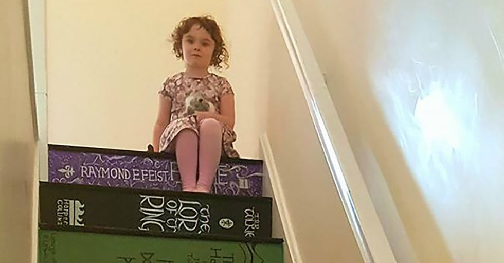 If you love books, you'll need to see this mom's amazing DIY art project.