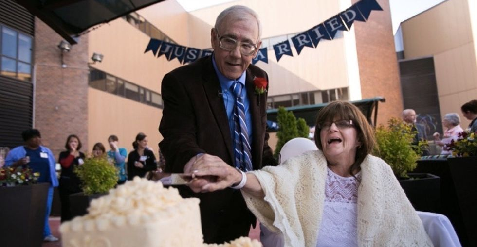 Their unconventional wedding was the perfect new chapter to this 47-year  love story.