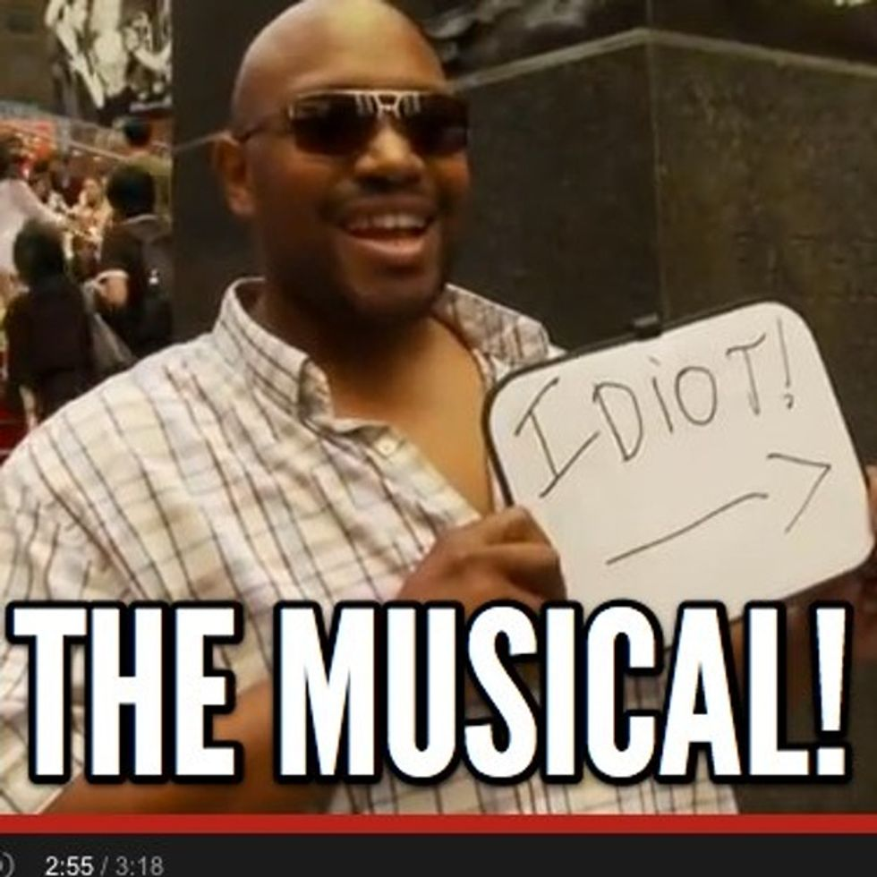 Angry Preacher Tries To Get Press, Yells About 9/11 In Times Square. Lovely Musical Number Ensues.