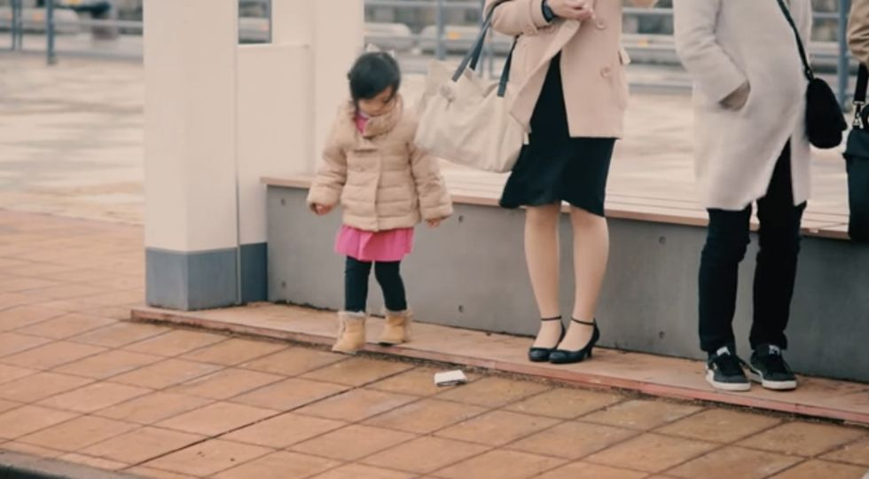 Adults drop their wallets next to kids to see what they will do. It's a beautiful experiment.