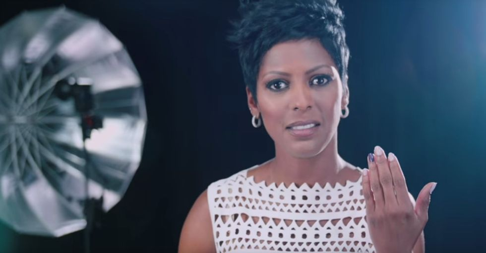 The tragic reason Tamron Hall painted a fingernail purple to end domestic abuse.
