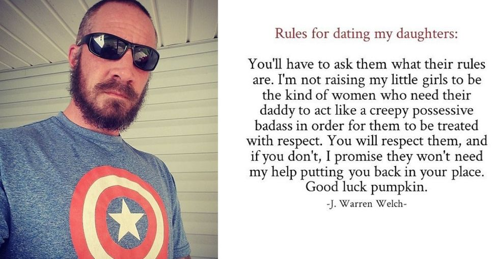 This dad's 'rules' for dating his daughters are perfect for 2017.