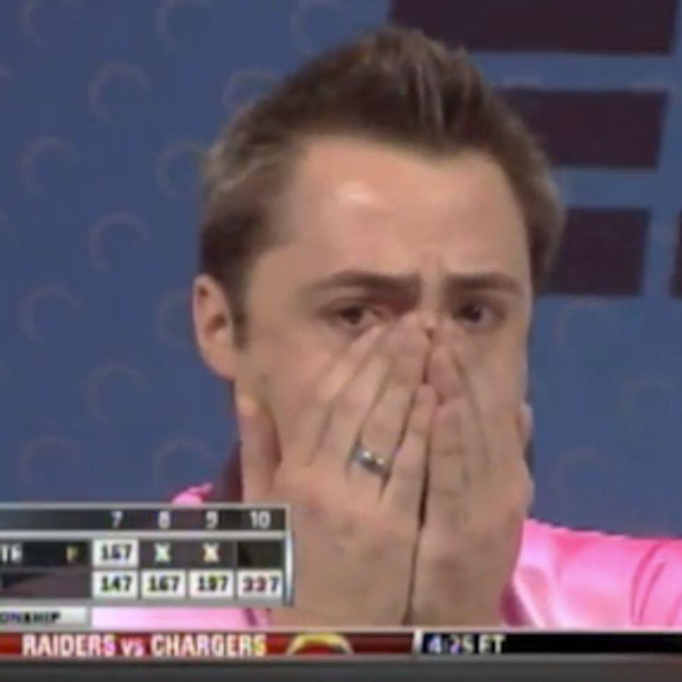 ESPN breaks its homophobia streak with openly gay male bowler.