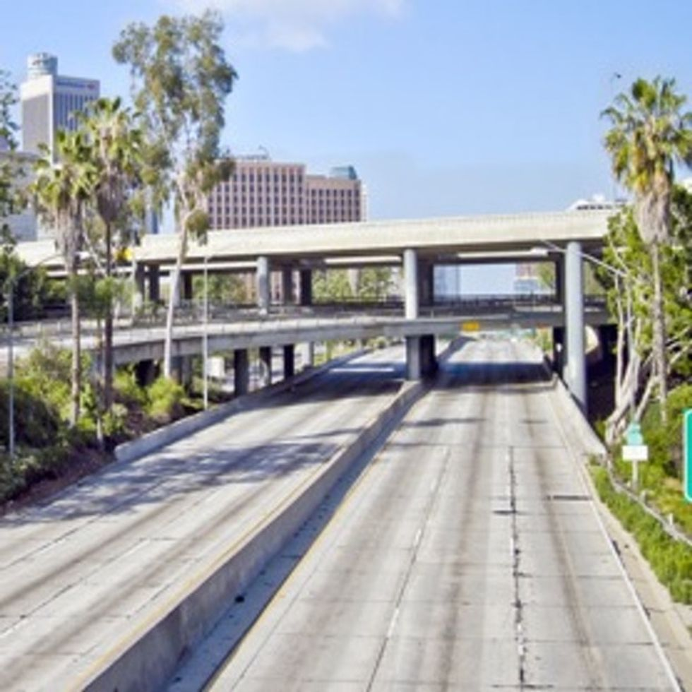 A Video Of Los Angeles Without Any Cars (Sort Of Like A Video Of The Beach With All The Sand Edited Out)