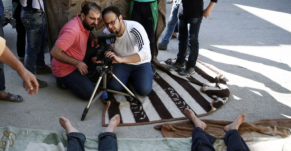 This filmmaker is re-enacting a tragic attack to show the world what Syria faces daily.