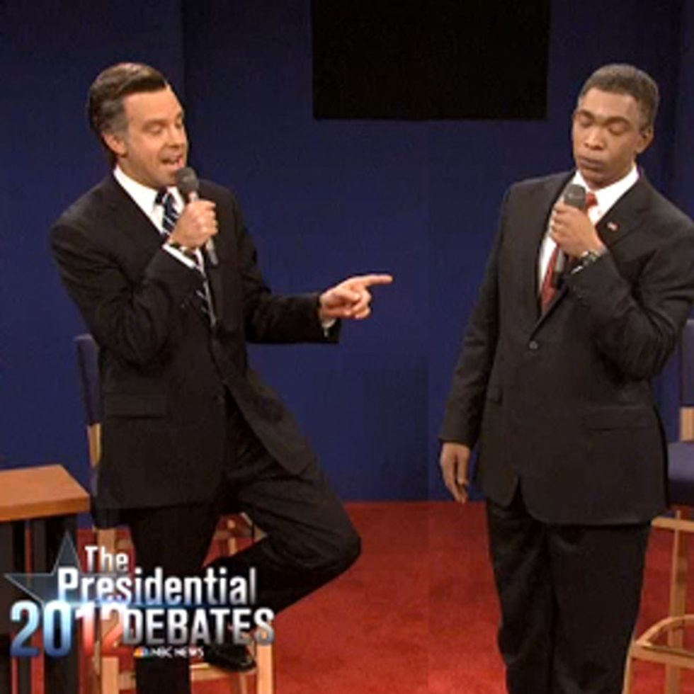 Shorter, funnier, truthier version of last week's debate (featuring an epic mic drop).
