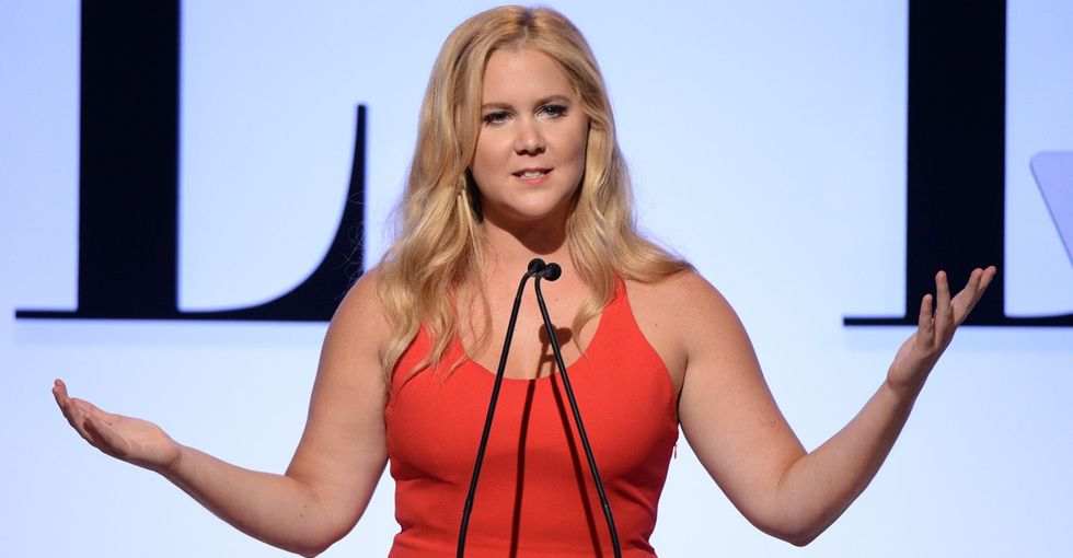 Amy Schumer isn't happy about being included in Glamour's plus-size edition.