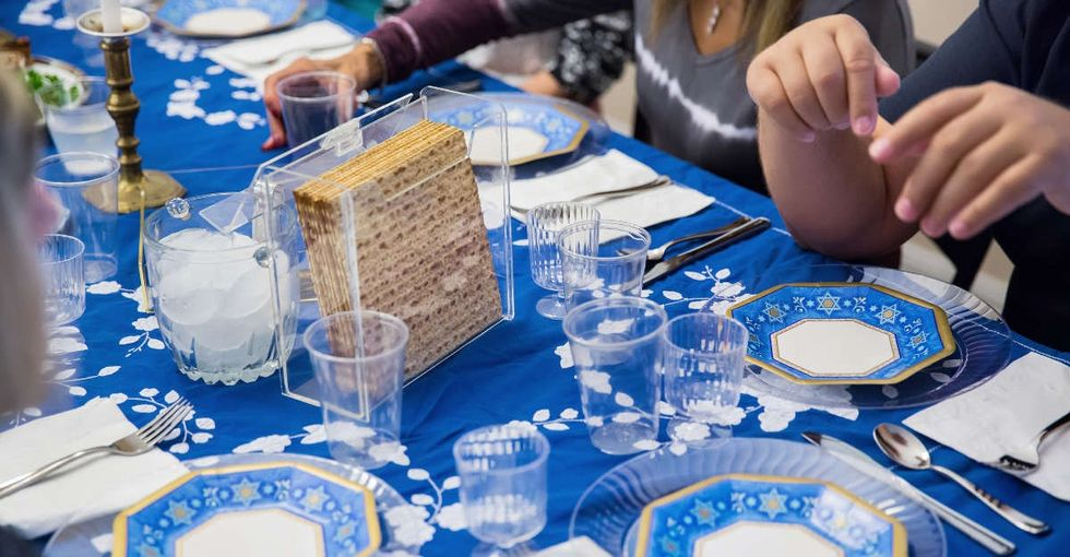 Because Passover is a refugee story, one synagogue invited refugees to Seder.