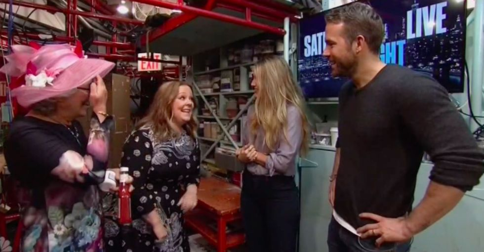 Melissa McCarthy invited Blake Lively and her husband to SNL and it was great.