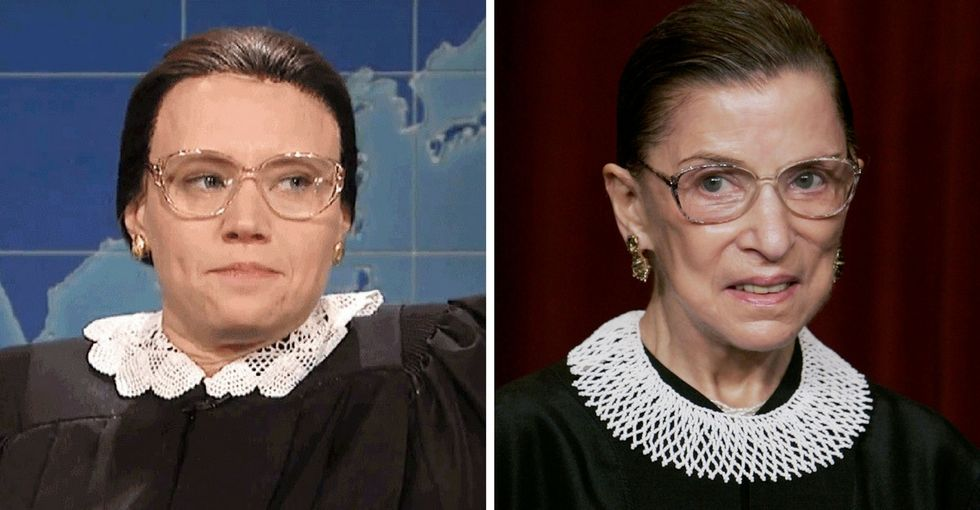 Ruth Bader Ginsburg saw Kate McKinnon portray her on 'SNL.' Here's what she thought.