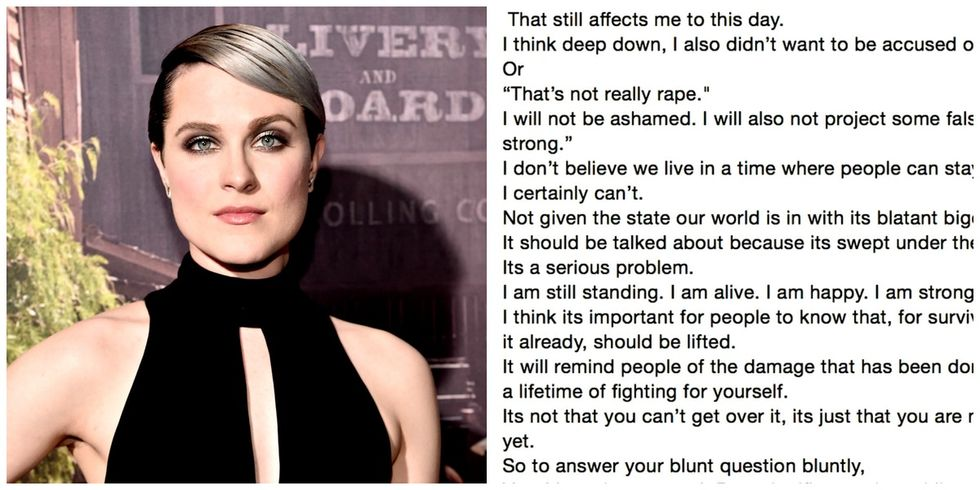 Evan Rachel Wood told a reporter about being raped. Then posted the whole letter online.