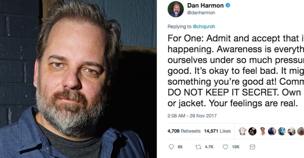 He's known for creating hilarious TV shows. But his advice on depression is damn good.