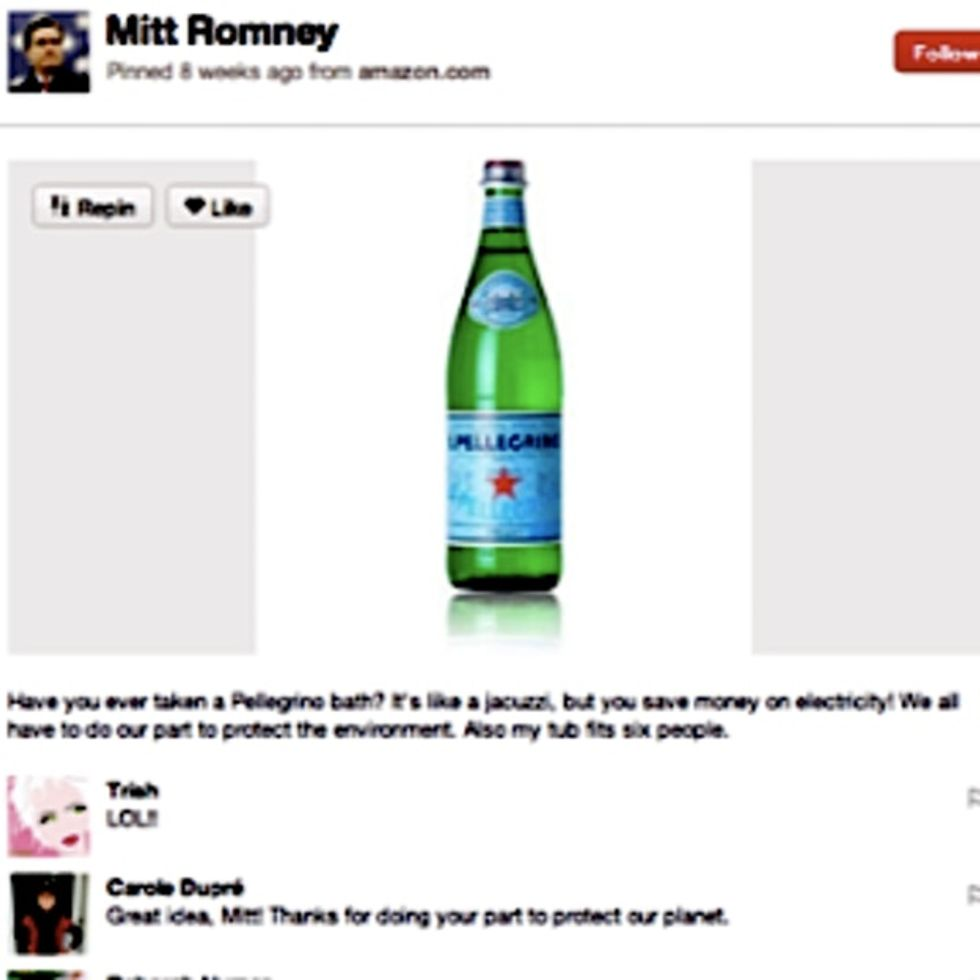 Top 5 Best Things From Mitt Romney's Fake Pinterest