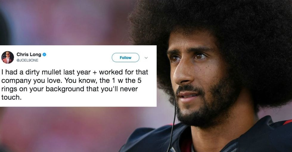 An NFL star defended Colin Kaepernick — and his Afro — in 3 awesome tweets.