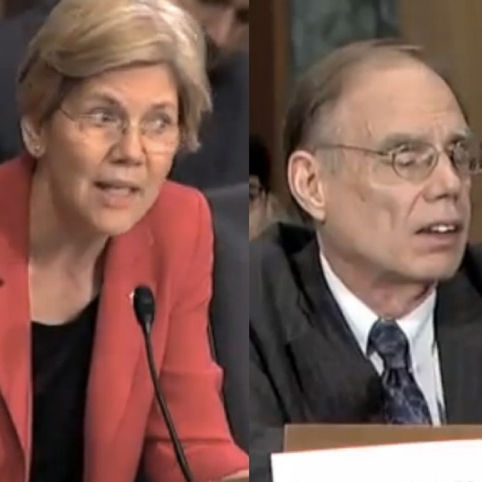 Sigh. Sen. Elizabeth Warren embarrasses some bank regulators to their faces. Again.