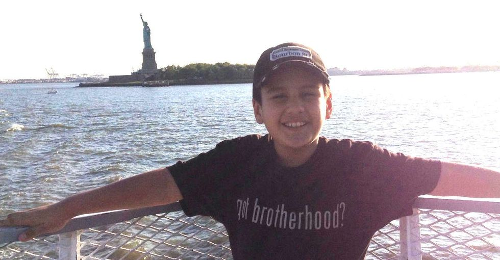 He's 11. He's Mexican and Muslim. And he has some choice words for Donald Trump.