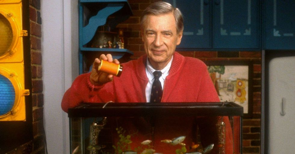 There's a wonderful reason why Mister Rogers always said aloud he's feeding his fish.
