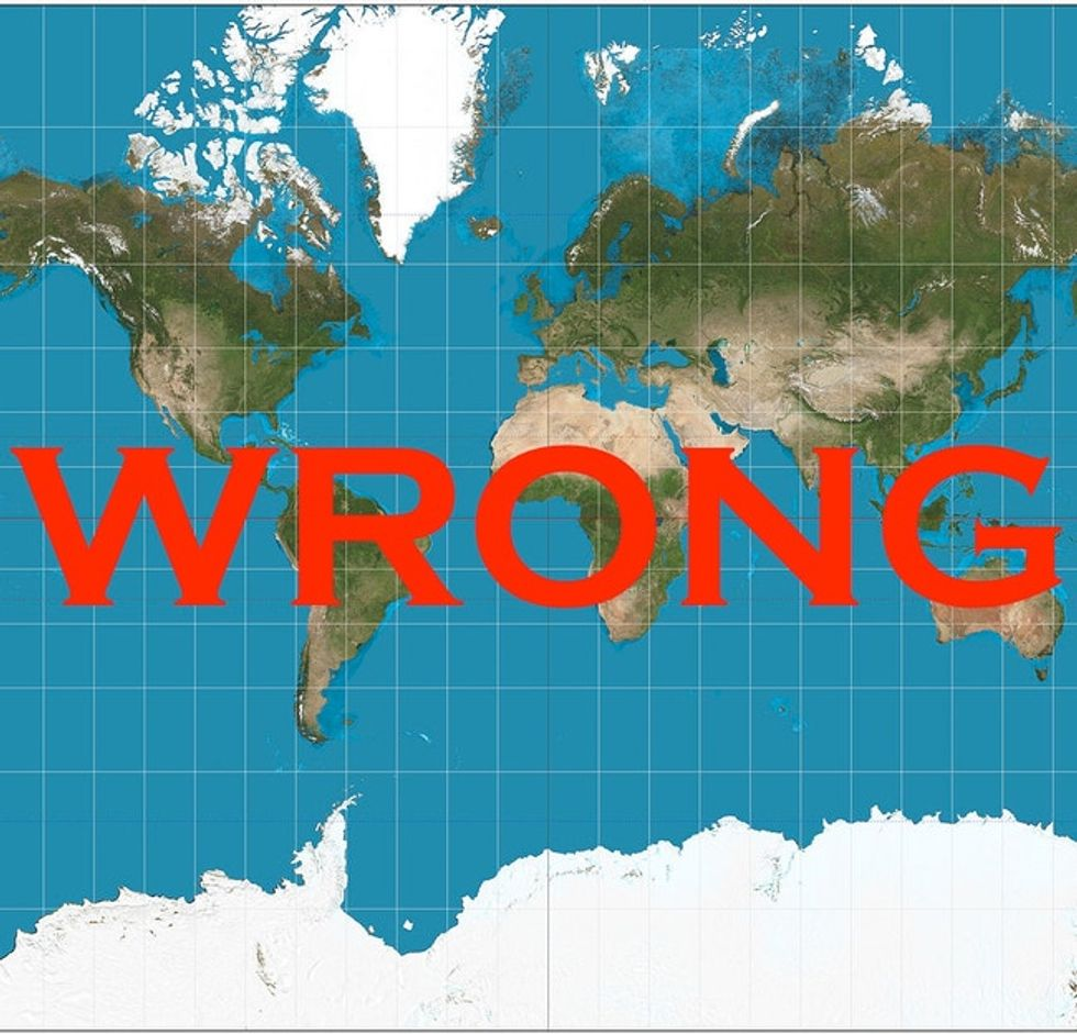 We Have Been Misled By An Erroneous Map Of The World For 500 Years