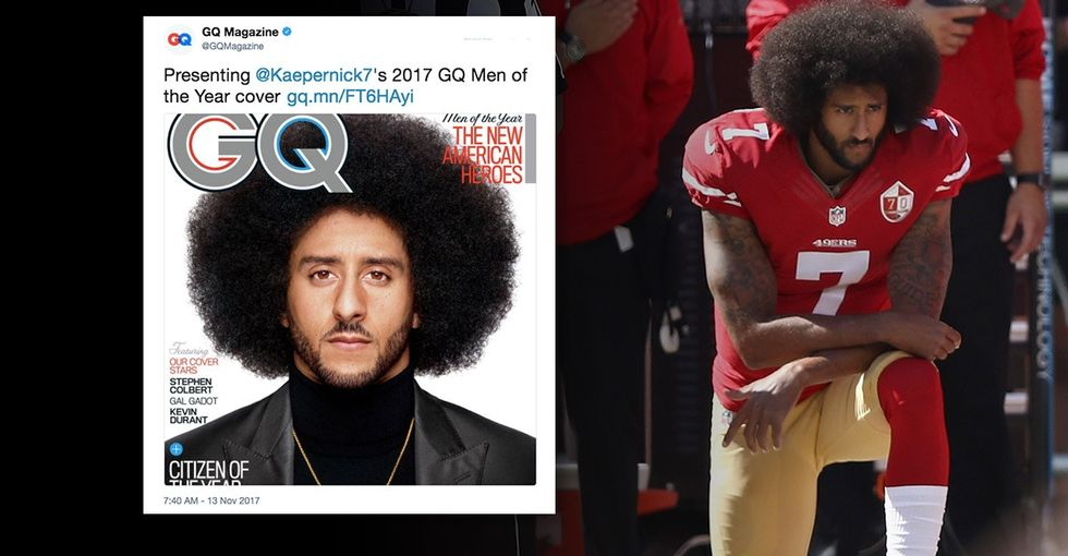 People are divided on Colin Kaepernick being named GQ's 'Citizen of the Year.'