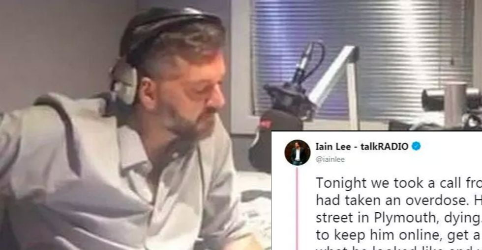A British radio host bravely opened up about his own depression then helped save a suicidal fan in dramatic fashion.