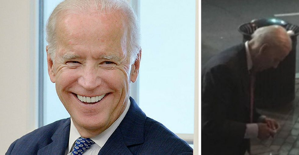 Check out Joe Biden helping a man in need outside a D.C. movie theater.
