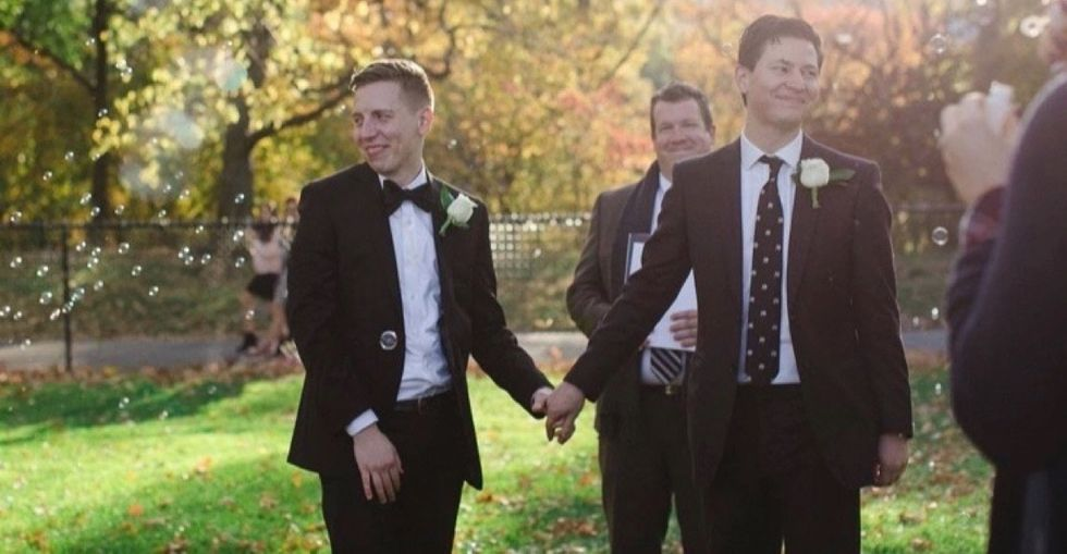 After Trump won, they decided to get married. And invited 3 million people to join them.