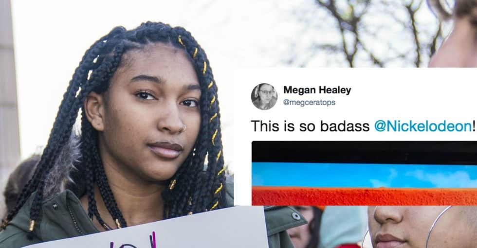 Read the badass message Nickelodeon showed during the student walkout.