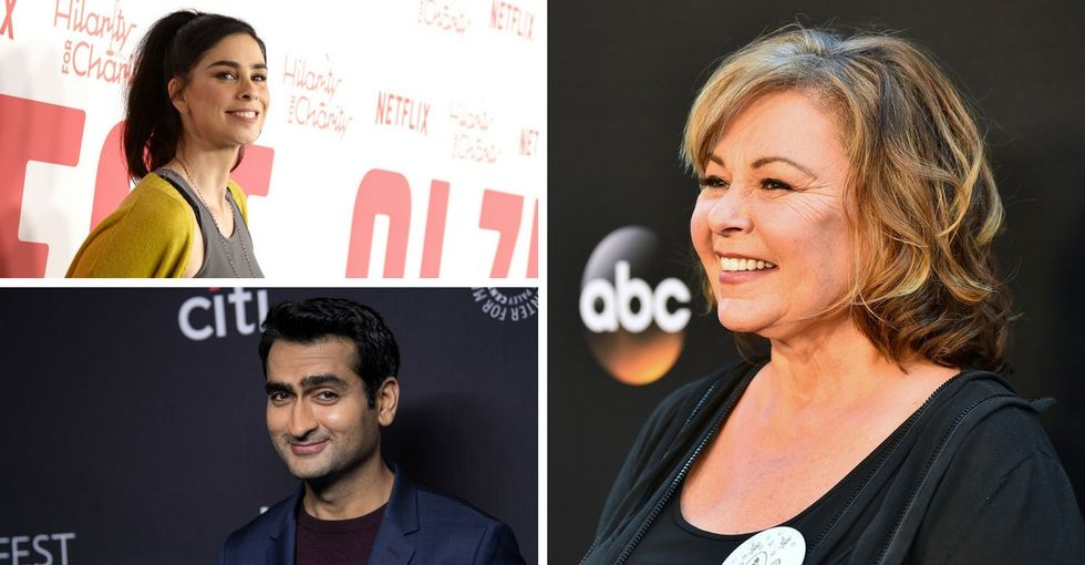 These comics butt heads on 'Roseanne.' But their tweets are worth reading.