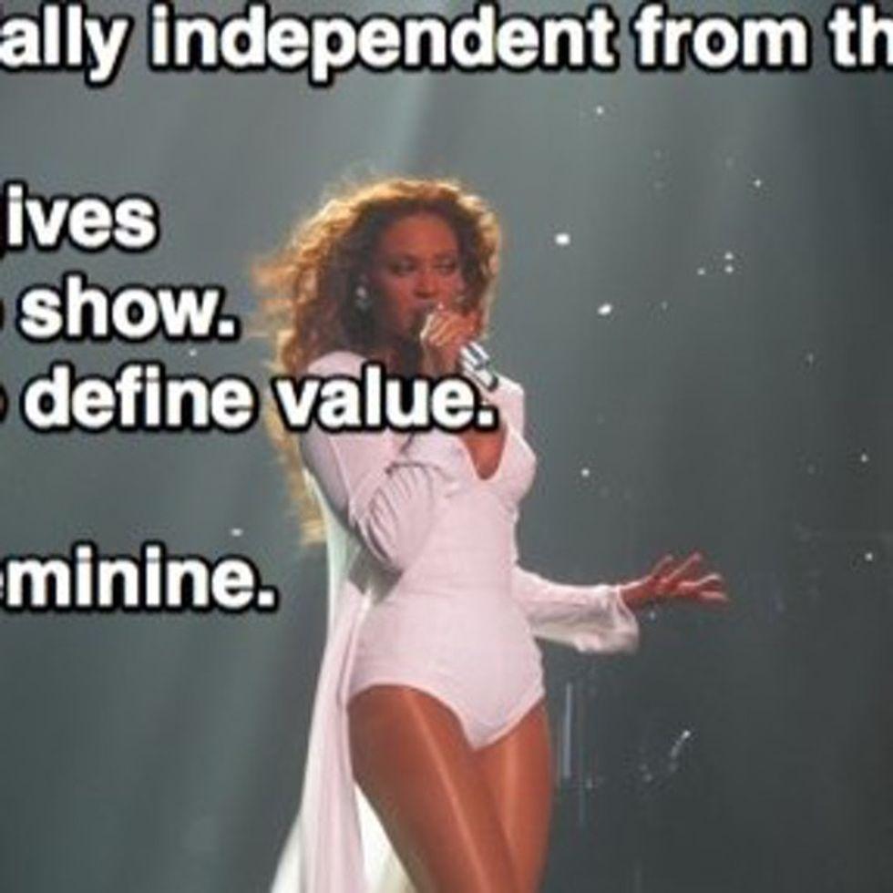 Feminist Beyoncé Says Gender Equality Is Bullsh*t (OK, I'm Paraphrasing)