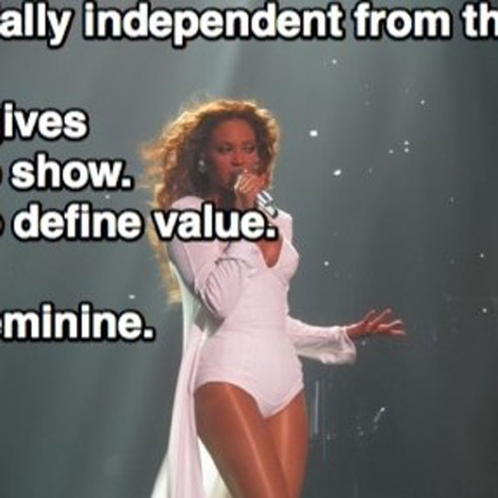 Feminist Beyoncé Says Gender Equality Is Bullsh*t (OK, I'm Paraphrasing)