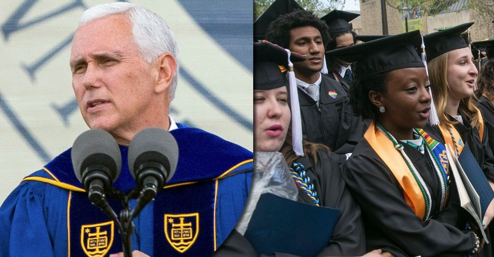 Defending students' Mike Pence walkout using the words of ... Mike Pence.