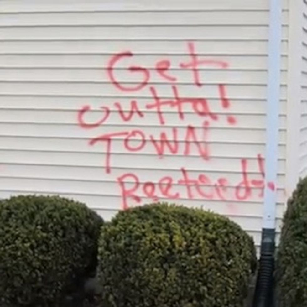 What Would You Do If Somebody Spray Painted THIS On Your House?