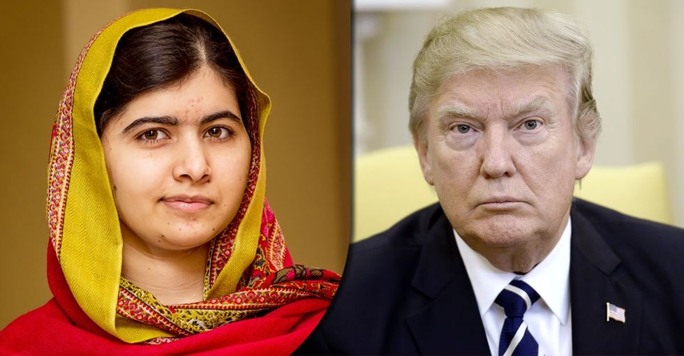 Malala says what many of us are thinking when it comes to Trump and refugees.